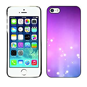 X-ray Impreso colorido protector duro espalda Funda piel de Shell para Apple iPhone 5 / iPhone 5S - Purple Pink White Bubbles