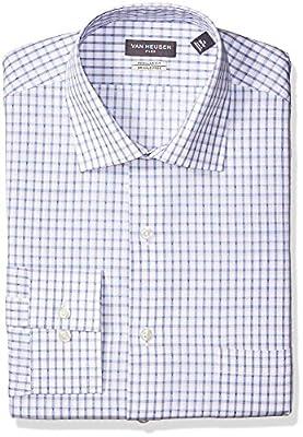 Van Heusen Men's Dress Shirt Flex Collar Regular Fit Plaid