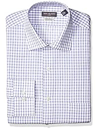 Van Heusen mens standard Dress Shirt Flex Collar Regular Fit Plaid