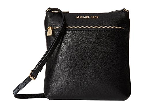 Michael Kors Mk Riley Small Leather Crossbody, Black, Small (Michael Kors Bags Cheap)