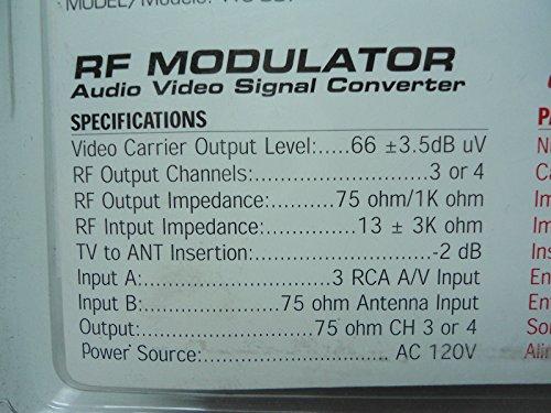 TopOne New Dynex WS 007 RF Modulator RCA s Video to Coax Video Converter SEALED
