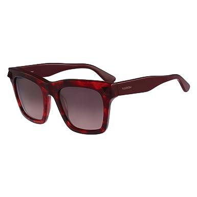 Amazon.com: Valentino V711S-649 Gafas de sol Señoras Rojo en ...