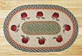 Kitchen Rugs Apple Design Earth Rugs OP-Apples Design Braided Rug, 20 x 30