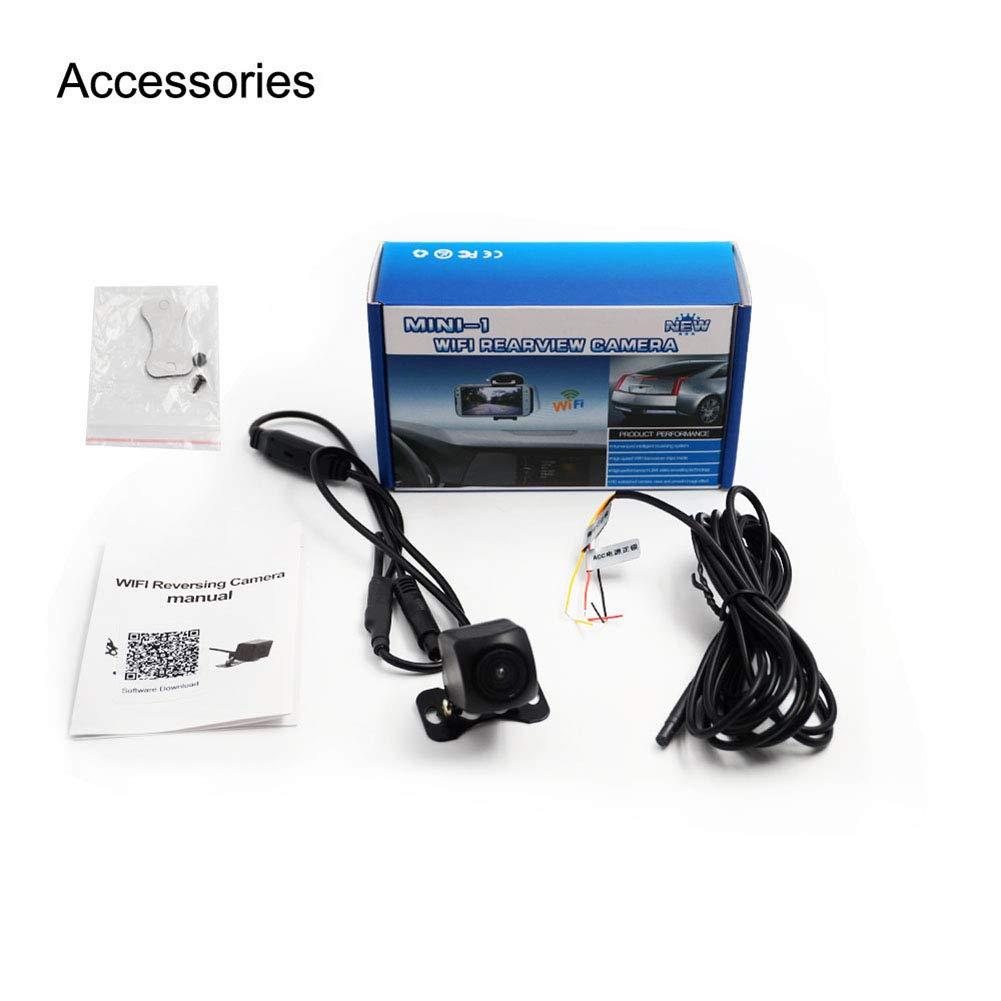 Wireless BEESCLOVER Visione Notturna WiFi Telecamera Posteriore per Auto 150 Gradi HD Colore Nero
