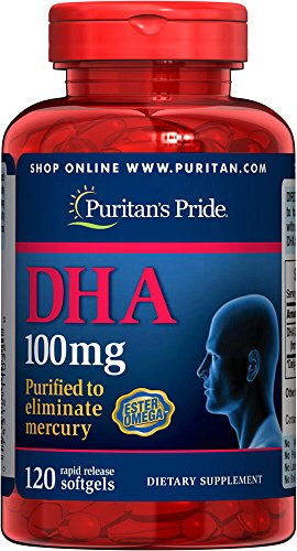 100 Mg Dha (Puritan's Pride DHA 100 mg-120 Softgels)