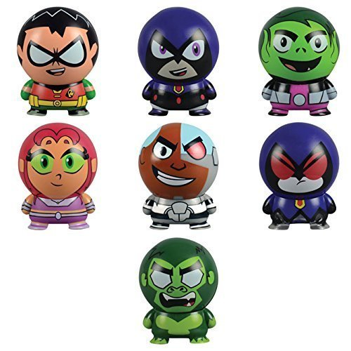 DC Comics Teen Titans Go! Collectible Characters: Buildables - Set of 7 by EFEXs (Image #1)