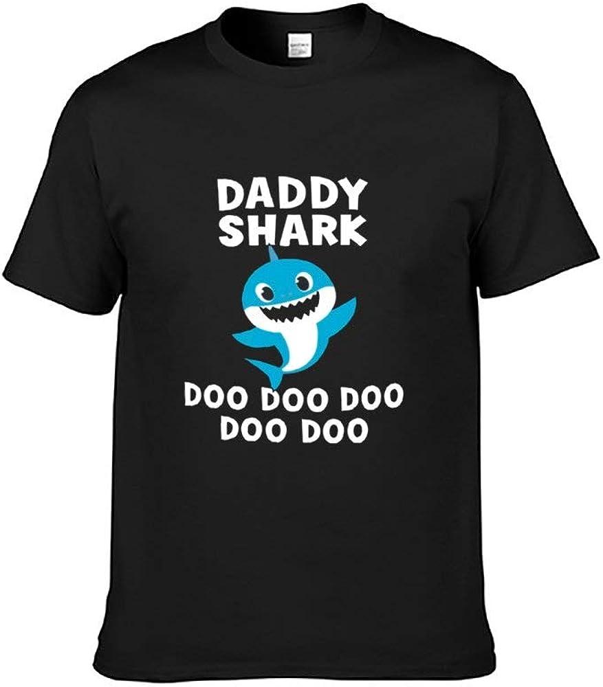 Casual Fashion Soft Cotton Short Sleeve T-Shirt for Men Daddy Shark