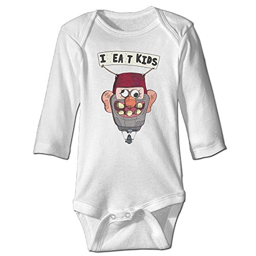 Annabelle Gravity Fall Long-Sleeve Romper Bodysuit For 6-24 Months Newborn Baby 18 Months White