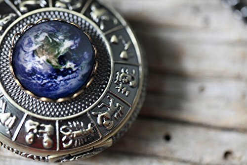 Earth-Pocket-Watch-in-Antique-Bronze