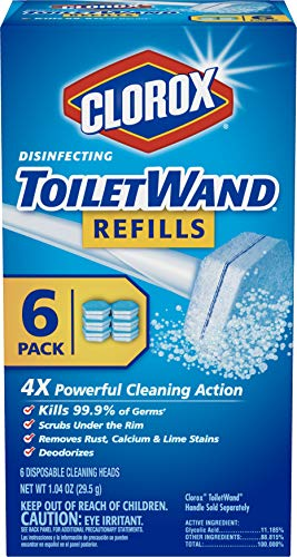 Clorox ToiletWand Disinfecting Refills, Disposable Wand Heads - 6 Count (Package May Vary)