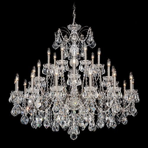 Schonbek 1718-23 Century 28-Light Chandelier in Etruscan Gold with Clear Heritage Crystal
