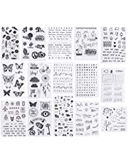 PH PandaHall Clear Silicone Stamps Alphabet Calendar Symbol Stamp Seal