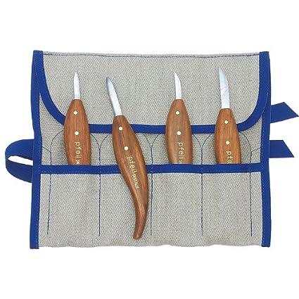 Pfeil - Juego de cuchillos para tallar madera, 4 piezas ...