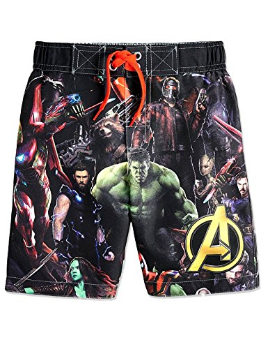 Avengers Superhero Boys Swim Trunks Swimwear (Toddler/Little Kid/Big Kid) (5-6)