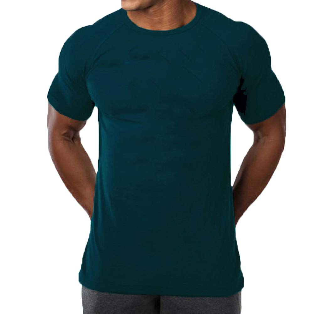 fdfb1d2f044c3 Amazon.com: SquareAesthetic Men's Cotton Gym Bodybuilding Blank T-Shirt Tee:  Clothing