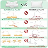 Elviros Cervical Memory Foam Pillow, Contour