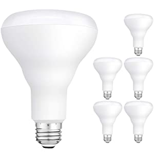 Hykolity 6 Pack Flood Light Bulbs, BR30 LED Bulb for Indoor/Outdoor Downlight Recessed Can Light, Dimmable, 11W=75W, 5000K Daylight, 850lm, E26 Base, UL Listed