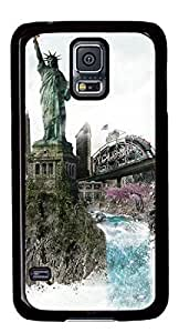 Beautiful New York DIY Hard Shell Black Samsung Galaxy S5 I9600 Case Perfect By Custom Service