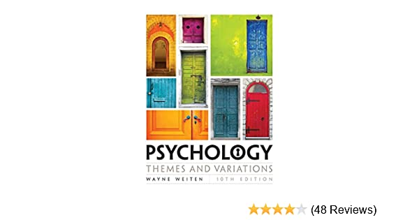 Amazon com: Psychology: Themes and Variations (9781305498204