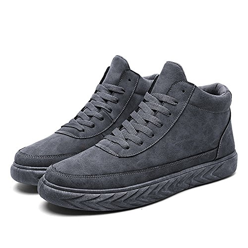 Men's Shoes Feifei Winter Fashion Leisure Non-Slip Sports Shoes 3 Colors (Color : Gray, Size : EU42/UK8.5/CN43)