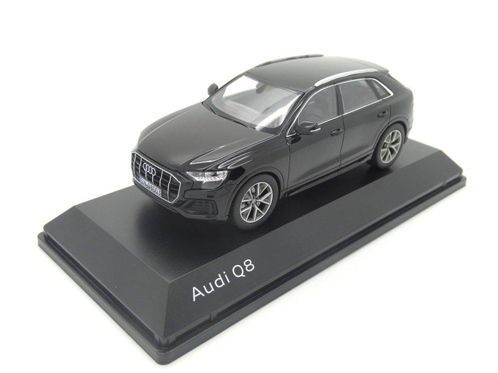 Originale Audi Q8 Modellino Auto Modello 1:43 Orcaschwarz Audi Sport GmbH