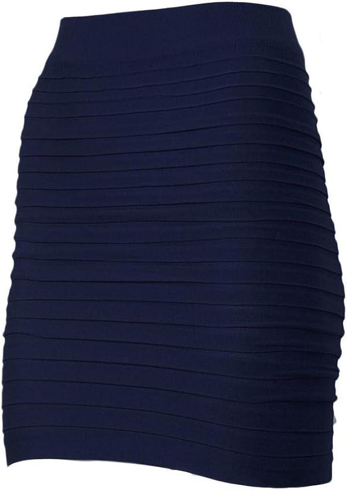 Culater® Mujer elástico Plisado Alta Cintura Paquete Falda Corta ...