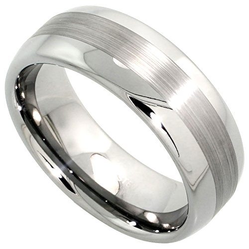 Tungsten Wedding Center Etching Comfort
