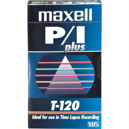 Maxell P/I PLUS T-120 VHS Black Magnetite Time Lapse Recording