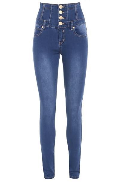19cdd7d090 Women s High Waist Denim Jeans Size 6-16 (UK - 6