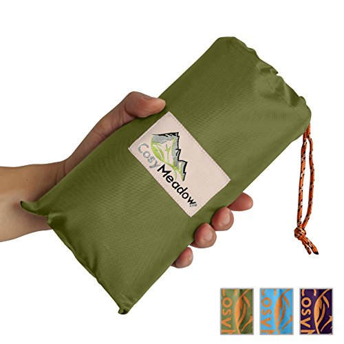Festival Mini Poster (Cosy Meadow Travel Beach Blanket Mat | Green Outdoor Pocket Tarp | Best For Picnic Festival Parade Music Carnival Vacation | Waterproof Sand Proof | Large Foldable | Compact Lightweight +4 Stakes)