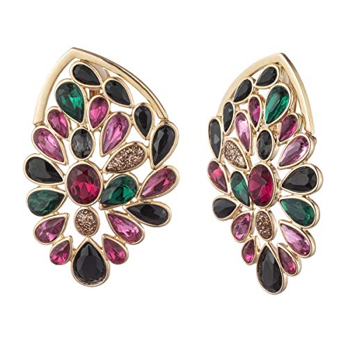 Multi Gold Ring Stone (Trina Turk Women's Stone Cluster Statement Stud Earring, Gold/Multi)