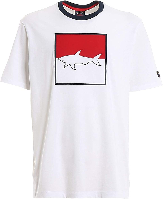 PAUL & SHARK Luxury Fashion Man E20P1024010 White Cotton T-Shirt   Spring Summer 20