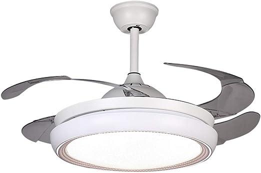 ADNFC Iluminación colgante Ventiladores de techo minimalistas modernos con lámpara, lámpara de ventilador de ...