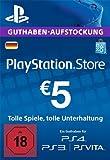 PlayStation Store Guthaben-Aufstockung | 5 EUR | PS4, PS3, PS Vita PSN Download Code - deutsches Konto