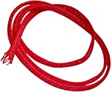 Aerzetix: 4.5 Metres 4 mm 3-7 Red Braided Heat Shrink Electrical Wire Cable Sleeve C14222