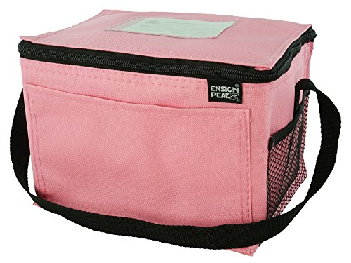 Insulated Lunch Cooler Bag, Pink