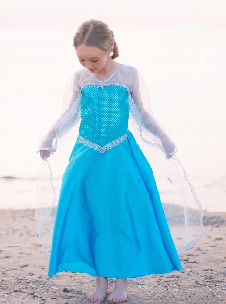 Disfraz de Princesa Elsa Frozen, Talla L: Amazon.es: Juguetes y juegos