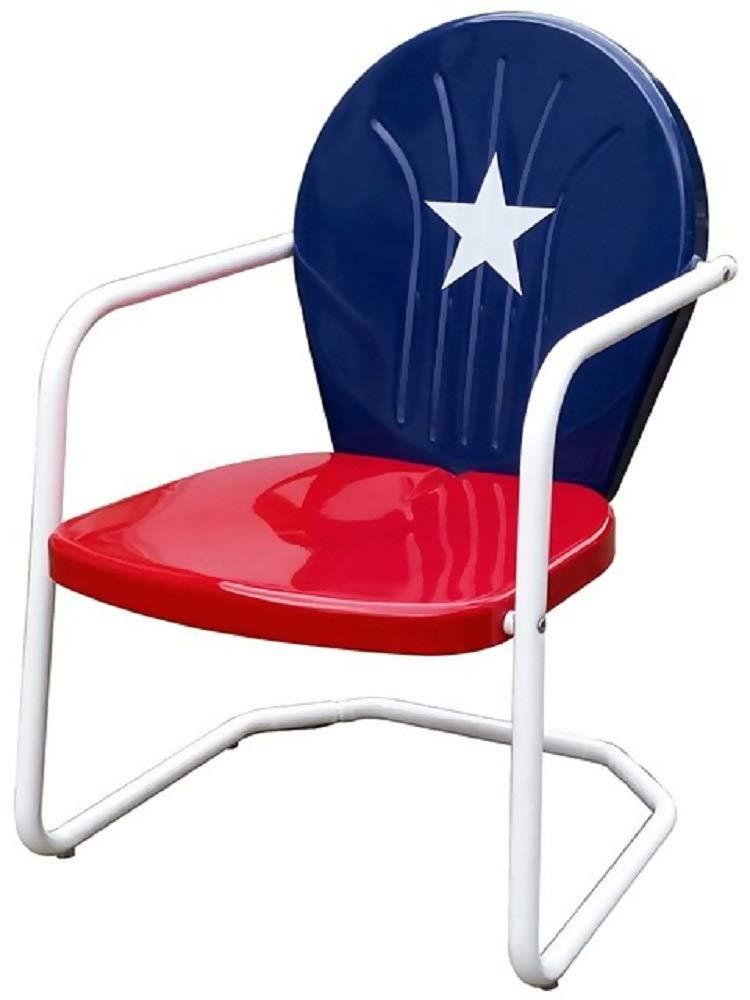 Amazon.com : Leigh Country Texas Retro Metal Lawn Chair + Free Basic Design  Concepts Expert Guide : Garden U0026 Outdoor