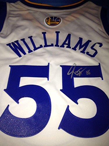 (Reggie Williams Autographed Jersey - GOLDEN STATE WARRIORS COA - Autographed NBA Jerseys)