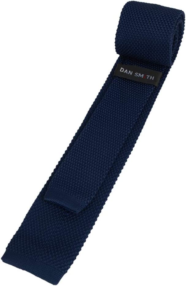 Dan Smith C.C.G.A.001 Midnight Blue Fashion Knit Skinny Tie for Selection