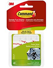 Command Poster Hanging Strips Value Pack, Small, White, 48 Pairs