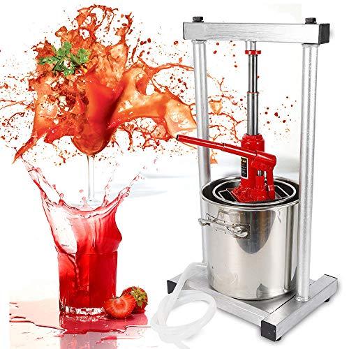 12L Fruit Wine Press Crusher Grinder Cider Making Apple Wine Juice Grinder with Hydraulic Jack