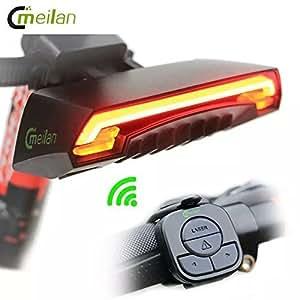 WALIO Meilan X5 Smart Bike Tail Light LED Rojo Luz Trasera Reflector Inteligente Recargable Bicicleta con Señales Intermitentes Lados Derecha e Izquierda
