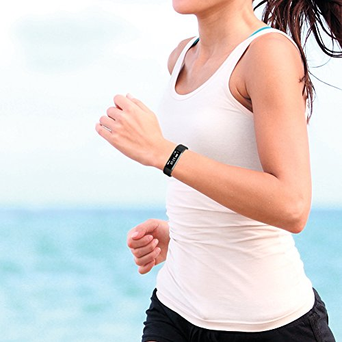 Fitness Tracker,LETUFIT HR Activity Tracker Wearable Smart Band With Heart Rate Monitor (Teal)