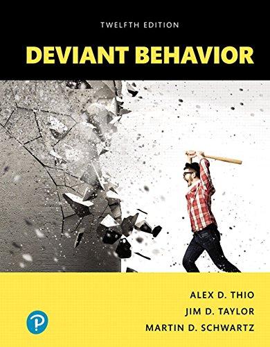 Deviant Behavior, Books a la Carte (12th Edition)