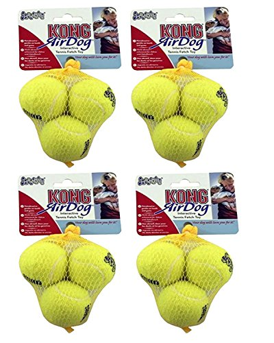 KONG Air Tennis Balls, Dog Toy X-Small x 12 Pack