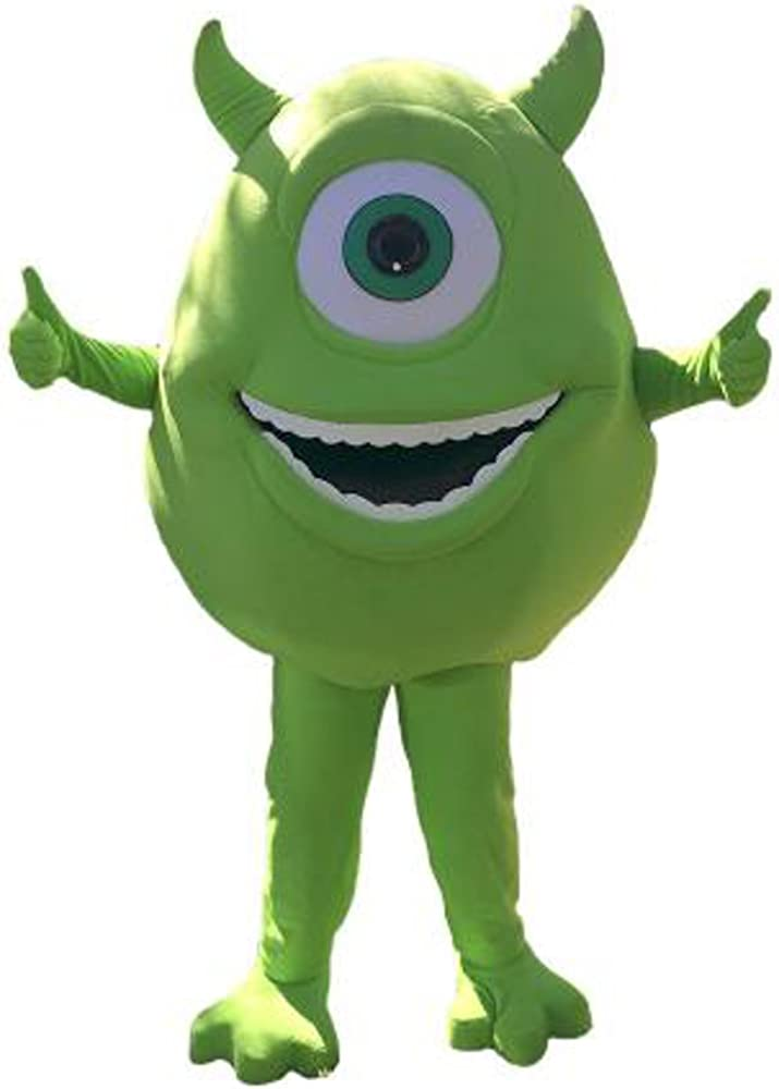 Amazon Com Kf Mike Wazowski Monster Inc Mascot Costume Adult Top Party Halloween Cosplay Clothing