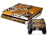 Vinyl Decal Skin Cover/stickers Wrap for Sony Ps4 Play Station 4 Console+2 Controllers-tiger Animal