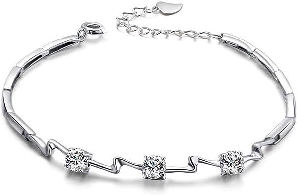 Hot Fashion Femmes Filles cristal bijoux bracelet en Argent Bracelet Chaîne Bracelet
