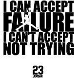 Basketball Wall Decals and Sports Quotes: Michael Jordan Famous Quotes Wall Decals - All Star Basketball Players Wall Decal Stickers - Premium Quality Leader Quotes Vinyl Wall Decals - BLACK